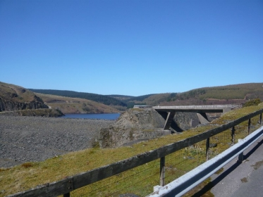 Dam and bridge ove spillway